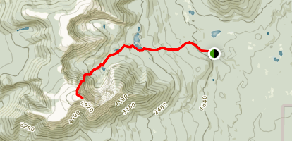 Baxter Peak Via Cathedral Trail Map