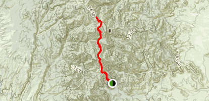 Cyclone Saddle Via Apache Kid Trail Map
