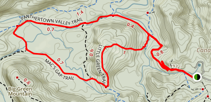 Little Green Mountain and Schoolhouse Falls Trails Map
