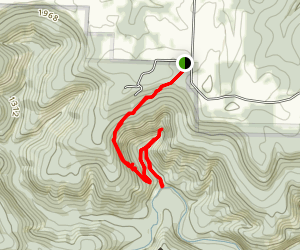 Hemmed in Hollow Trail Map