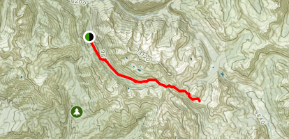 Yule Pass Trail to Paradise Divide Map