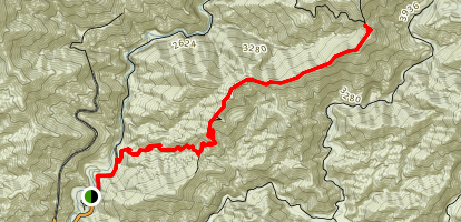 Heaton Flat to Heaton Saddle Map