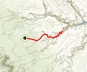 Broken Bow Arch via Willow Gulch Trail Map