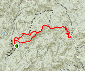 Mill Shoals and Yellow Mountain Loop Trail Map