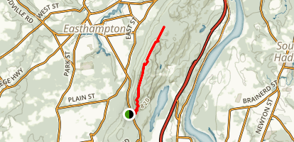 Mount Tom Traverse via the Metacomet-Monadnock Trail Map