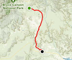 Cottonwood Canyon Road Map