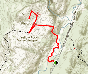 Yellow Rock Valley Viewpoint Trail Map
