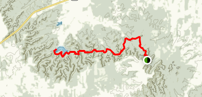 Knobstone Trail: Leota to Elk Creek Map