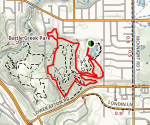 Battle Creek Trail Map