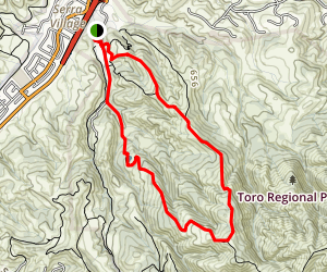 Toyon Ridge Trail Map