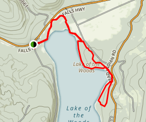 Lake of the Woods Area Trails Map