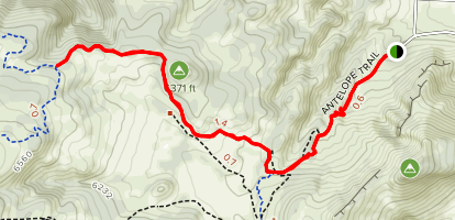 Antelope and Bitterbrush Trails Map