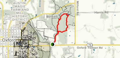 Harkers Run to Bachelor Preserve East Loop Trail Map