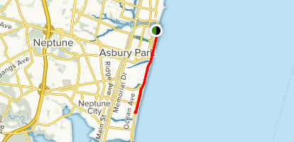 Asbury Park Map Asbury Park Boardwalk Walk   New Jersey | AllTrails