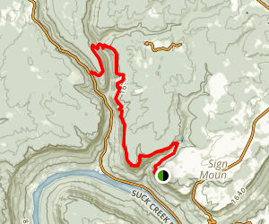 Cumberland Trail - Signal Point to Suck Creek Road Map