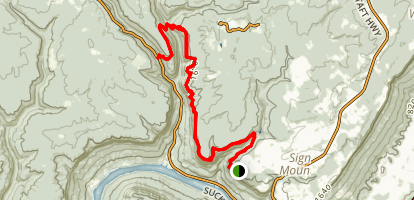 Signal Point Trail to Edwards Point Map