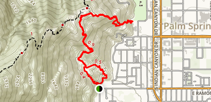 North Lykken Trail to Palm Springs Art Museum Map