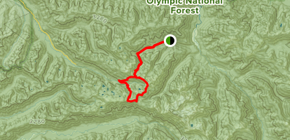 Olympic Hot Springs, Appleton Pass, and Sol Duc Loop Trail Map