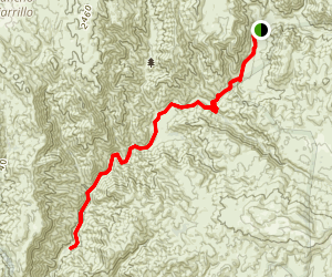 San Mateo Canyon Trail Map