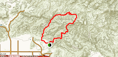 Las Llajas Trail Map