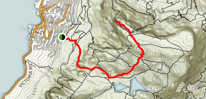 Kasteelspoort to Upper Cable Station Via Echo Valley Map