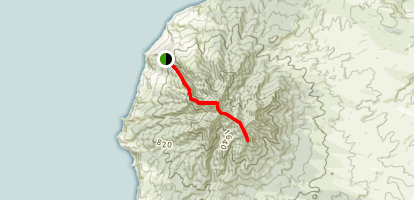 Mount Karioi Track Map