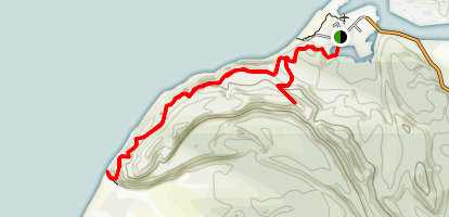Okarito Beach Trail to Kohuamarua Bluff Map