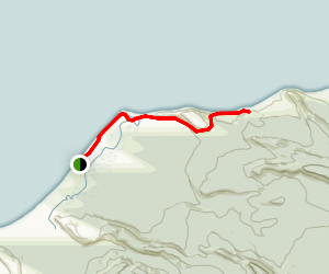 Waikowhai Bluff and Galway Beach Trail Map
