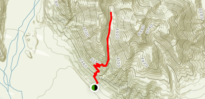 Mount Potts Easement Track Map