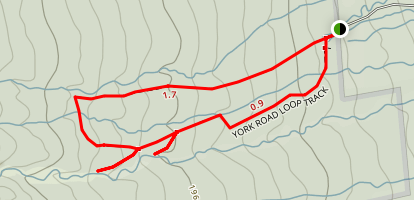 York Road Loop Track Map