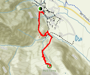 Governors Bush Track to Red Tarns Track Map