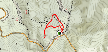 Kaka Track to Fuscha Gully Track Map