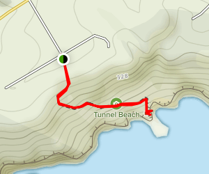 Tunnel Beach Trail Map