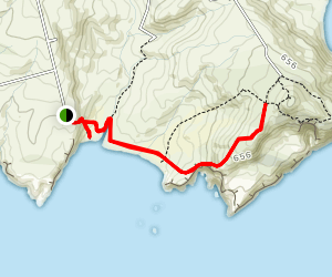 Sandfly Bay Trail Map