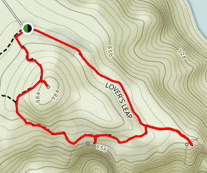 Lover's Leap Loop Trail Map