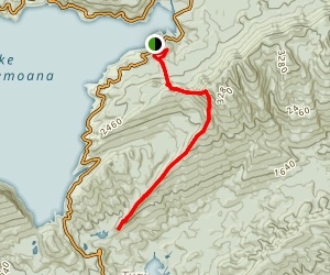 Ngamoko and Tawa Loop Track Map