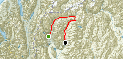 Rees Dart Track Map