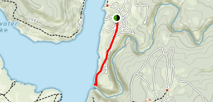 Bluewater Damn Trail Map