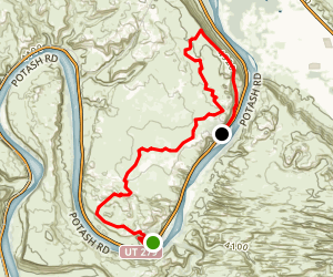 Poison Spider Mesa to Portal Trail Map