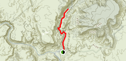 Parsons Trail along Sycamore Canyon Map