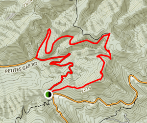 Petites Gap, Sulphur Spring, and Appalachian Trail Loop Map