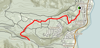 Ward Creek Via Rawhide Trail Map