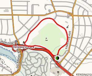 Delaware Park Trail Map