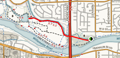 Pre's Trail East Entrance Canoe Canal Trail Map