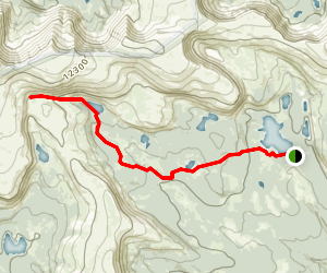 Reader Lakes via Highline Trail Map