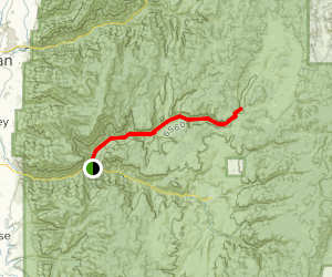 Blacksmith Canyon Left Hand Fork Trail Map