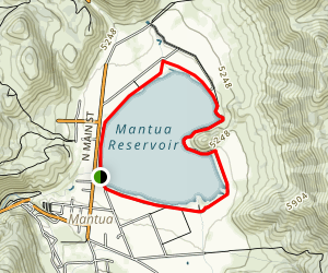 Mantua Reservoir Trail Map