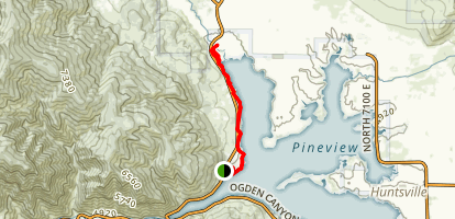 Pineview West Trail Map