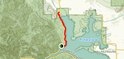 Pineview West Trail [CLOSED] Map