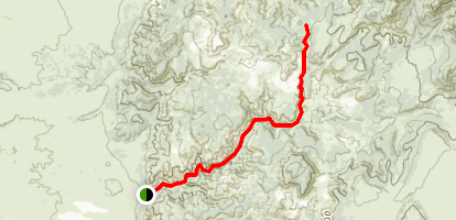 Casto Canyon Trail Map